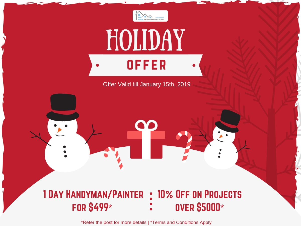 Painter/Handyman Holiday Offer: $499 Full Day Package